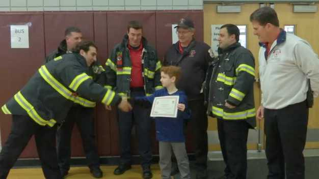 Mass. Boy Who Saved Family From Fire Honored