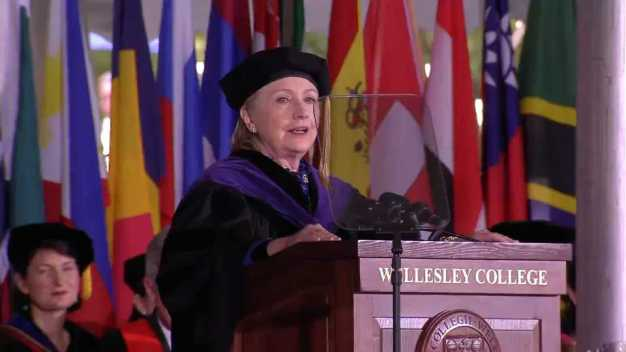 Clinton Addresses Graduates at Alma Mater