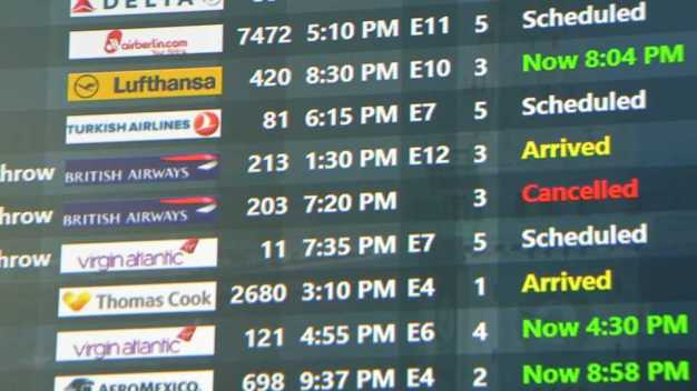 Delayed Travelers Irked in Boston, Abroad