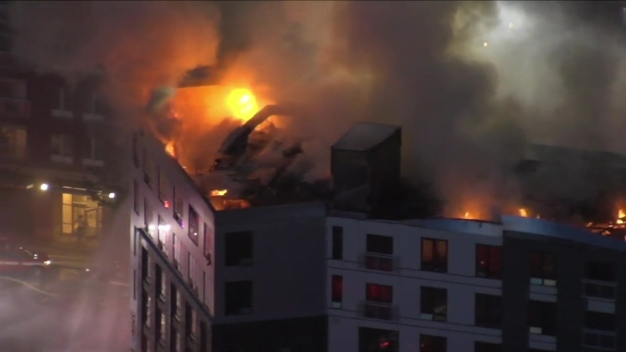 Dorchester Building Goes Up in Flames