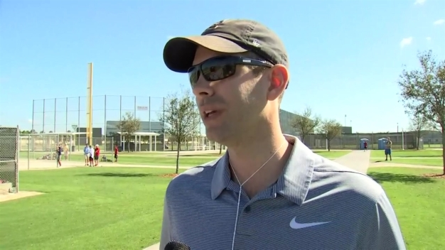 Brad Stevens Visits Red Sox at Spring Training