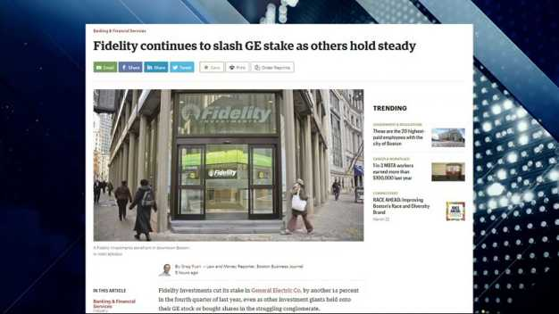 BBJ Report: Fidelity Slashing GE Stake