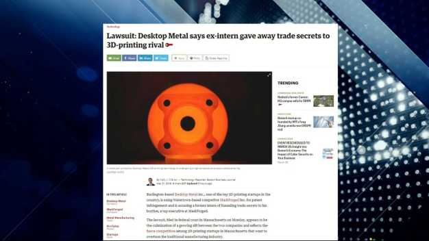 BBJ Report: 3D-Printing Trade Secrets