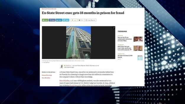 BBJ Report: Prison for Former State Street Exec