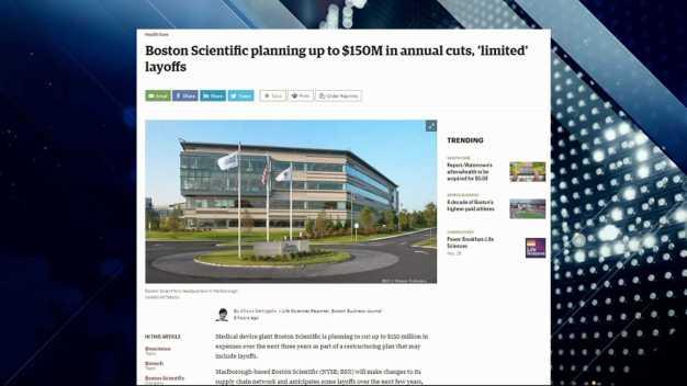 BBJ Report: Boston Scientific to Make Major Cuts