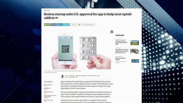 BBJ Report: Boston Startup Gets Approval for Addiction App