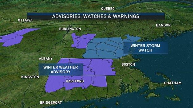 Snow, Sleet, Freezing Rain Heading to New England