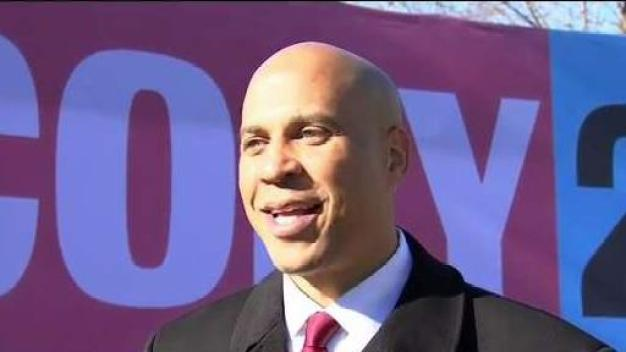 Cory Booker Talks After Filing in NH
