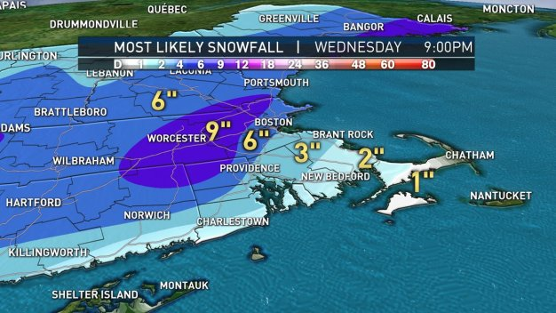 Storm to Bring Up to 9 Inches of Snow
