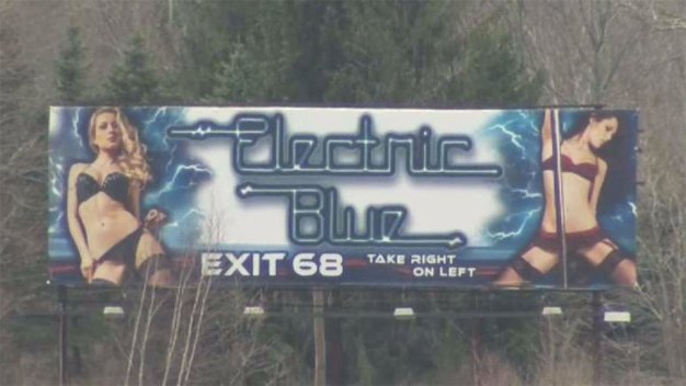 Controversial Strip Club Billboard on I-84 Coming Down