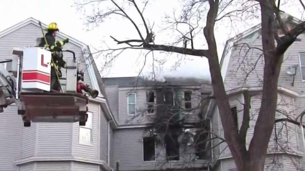 Firefighters Battling Multi-Alarm Fire in Worcester
