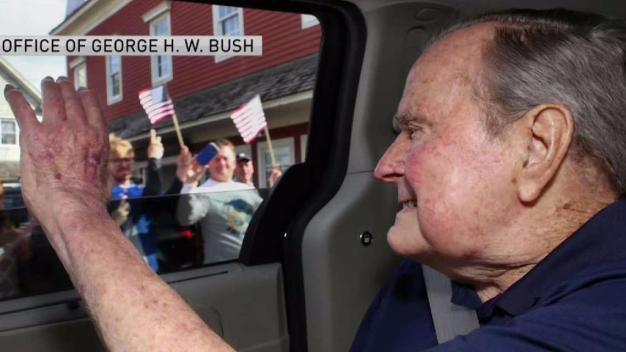 Former President George H.W. Bush Arrives in Maine