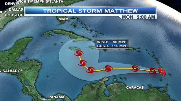 Tropical Storm Matthew Bears Watching