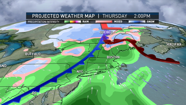 System to Bring Scattered Rain, Wintry Mix to Some Areas