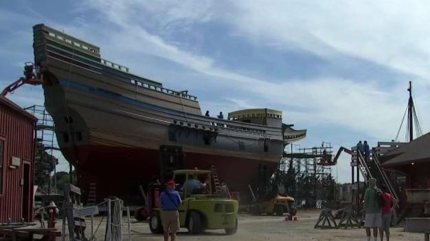 Mayflower II Prepares to Launch