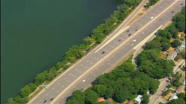 AERIAL FOOTAGE: Police Search for Missing Arlington, Mass. Woman