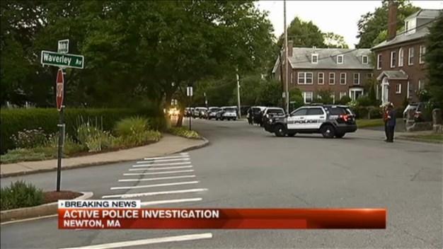 State, Local Police Investigate Scene in Newton, Mass.