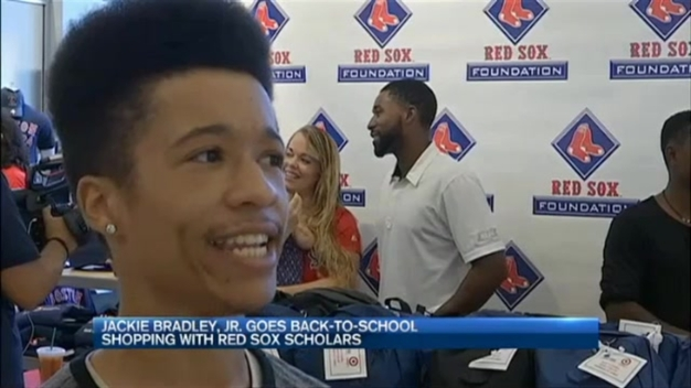 Students Receive School Supplies From Sox Player, Target