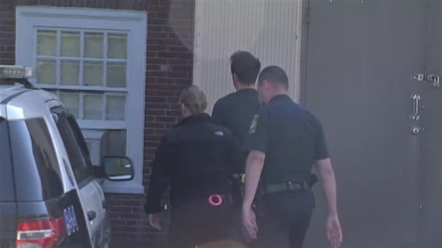 Police Chase Suspect Michael Leblanc Arrives at Court