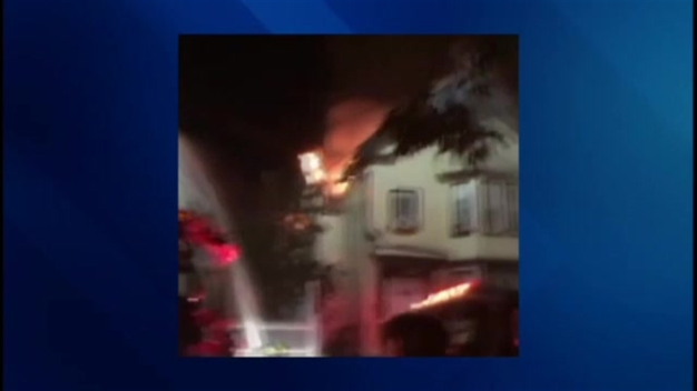 Flames Tear Through Buildings in Lawrence, Mass.