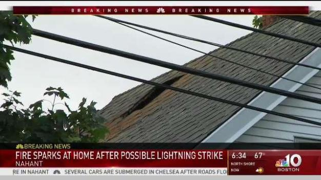 Nahant Home Fire Likely Caused by Lightning