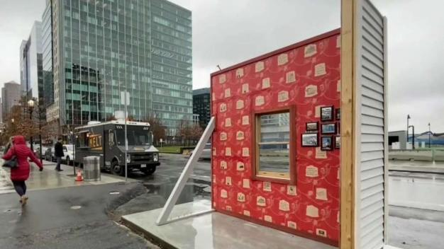 Art Installation in Boston Seaport District Highlights Housing Crisis