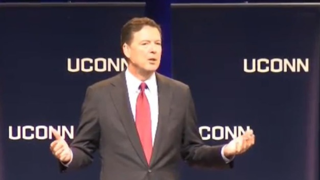 Former FBI Director James Comey Speaks at UConn