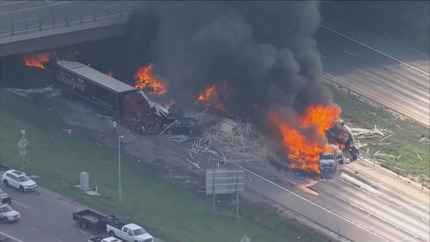 4 Dead in Fiery Pileup on I-70 Near Denver