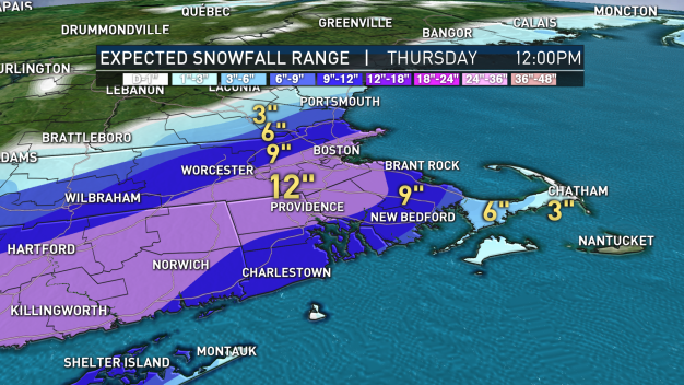 4th March Nor'easter to Bring Up to a Foot of Snow