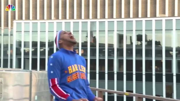 Basketball Thrown From Top of MSG Makes Hoop 120 Feet Below