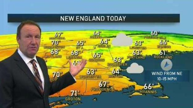 Tuesday: Clouds and Sprinkles, Some Sun