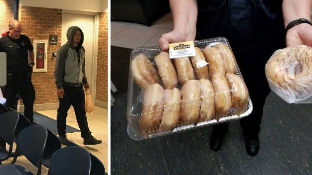 Mich. Man Brings Doughnuts to His Arrest After Cops Win Bet
