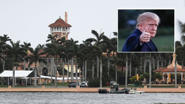 Hurricane Maria Caravan, Rally Focuses on Trump's Mar-a-Lago