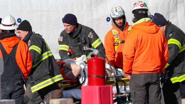 Trapped Worker Rescued From Waltham Construction Site