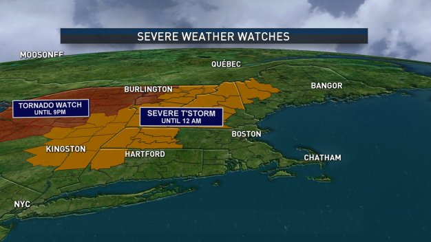 Severe Thunderstorm Warnings, Watches in Effect