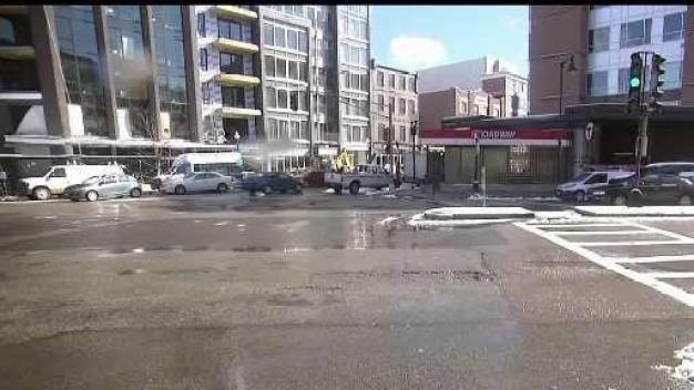 Water Main Break Causes a Mess in Boston