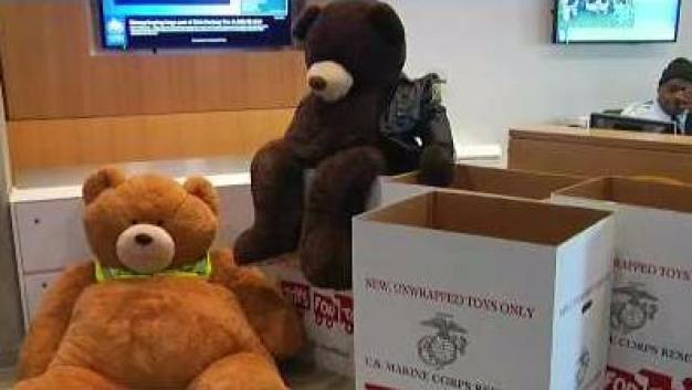 Suffolk Campus Police Volunteer With Toys for Tots