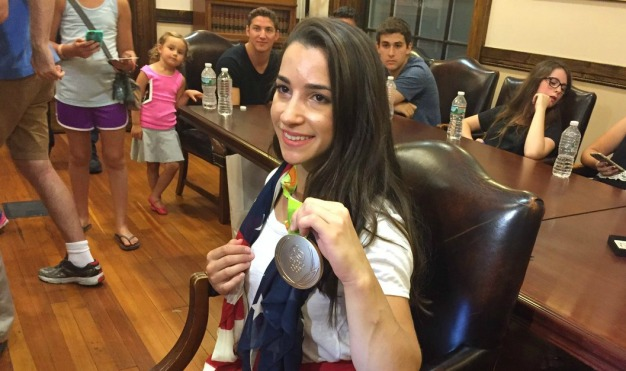 Needham Holds Rally to Honor Olympian Aly Raisman