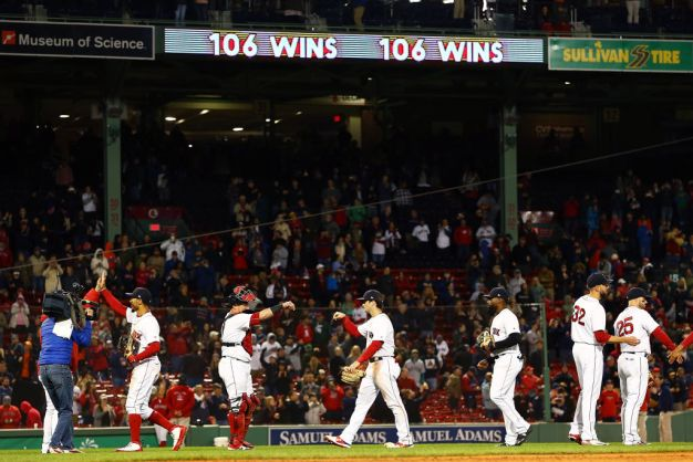 Red Sox Break Franchise Win Record, Clinch Home Field