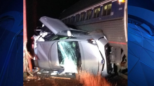 Truck Collides With Train in New Hampshire