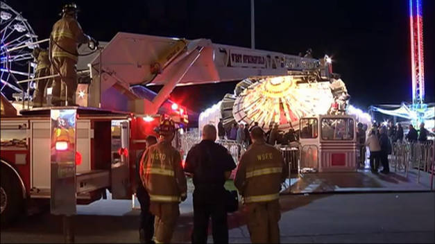 Firefighters Rescue Stuck Riders at Big E