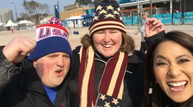 Audrey Finds Boston Locals in PyeongChang