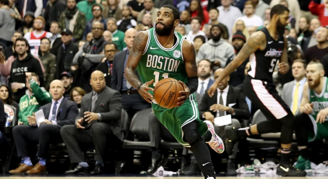 Irving Scores Boston's Last 12 in 130-125 OT Win at Wizards
