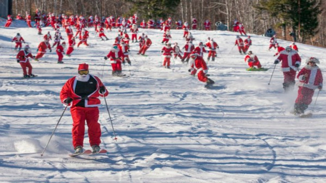 Ho, Ho, Snow: Santa's Helpers Get Jolly on the Slopes