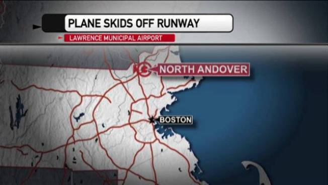 Small Plane Misses Runway in North Andover, Mass.