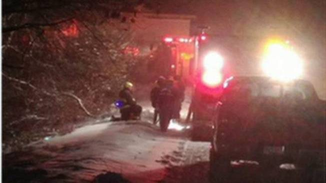 Rescue Crews Save Man From Frigid River in Barre, Mass.