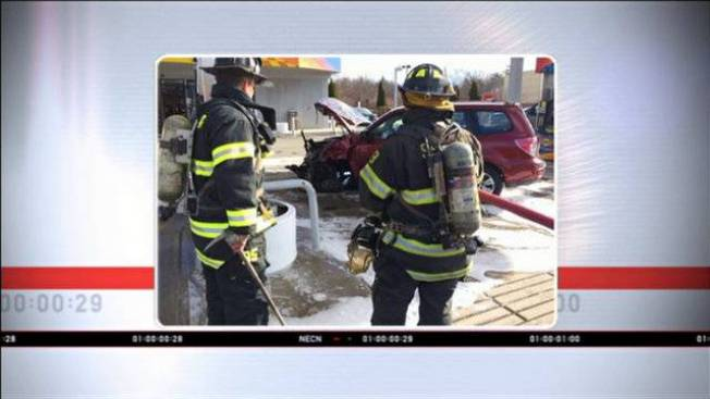 Elderly Driver Recovering After Crashing Into Saugus, Mass. Gas Station