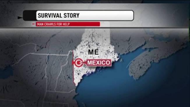 Maine Man Crawls Over 2 Miles in Freezing Temperatures With Broken Leg