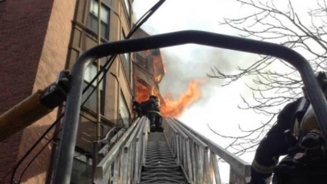 Crews Battling 5-alarm Fire in Boston