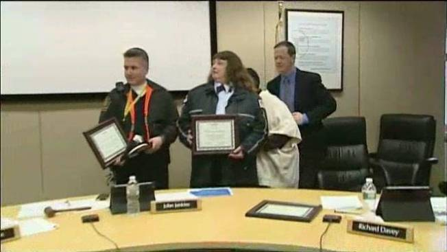 2 MBTA Workers Honored for Saving Commuter's Life